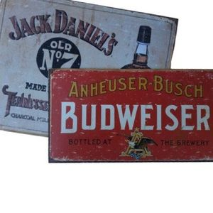 Jack Daniels and Budweiser sign